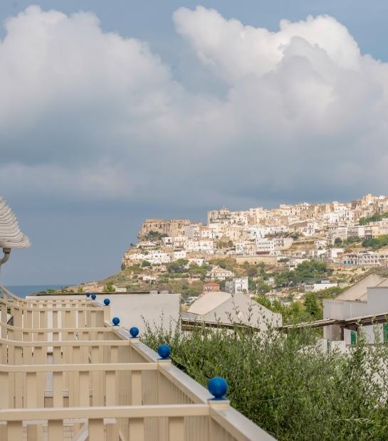 Vista di Peschici dal Maritalia