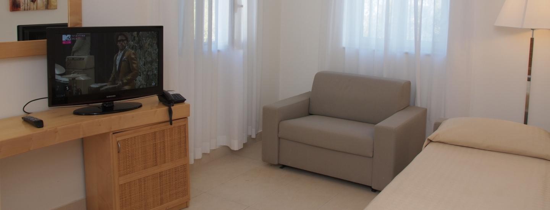 Poltrona e letto aggiuntivo nella Suite